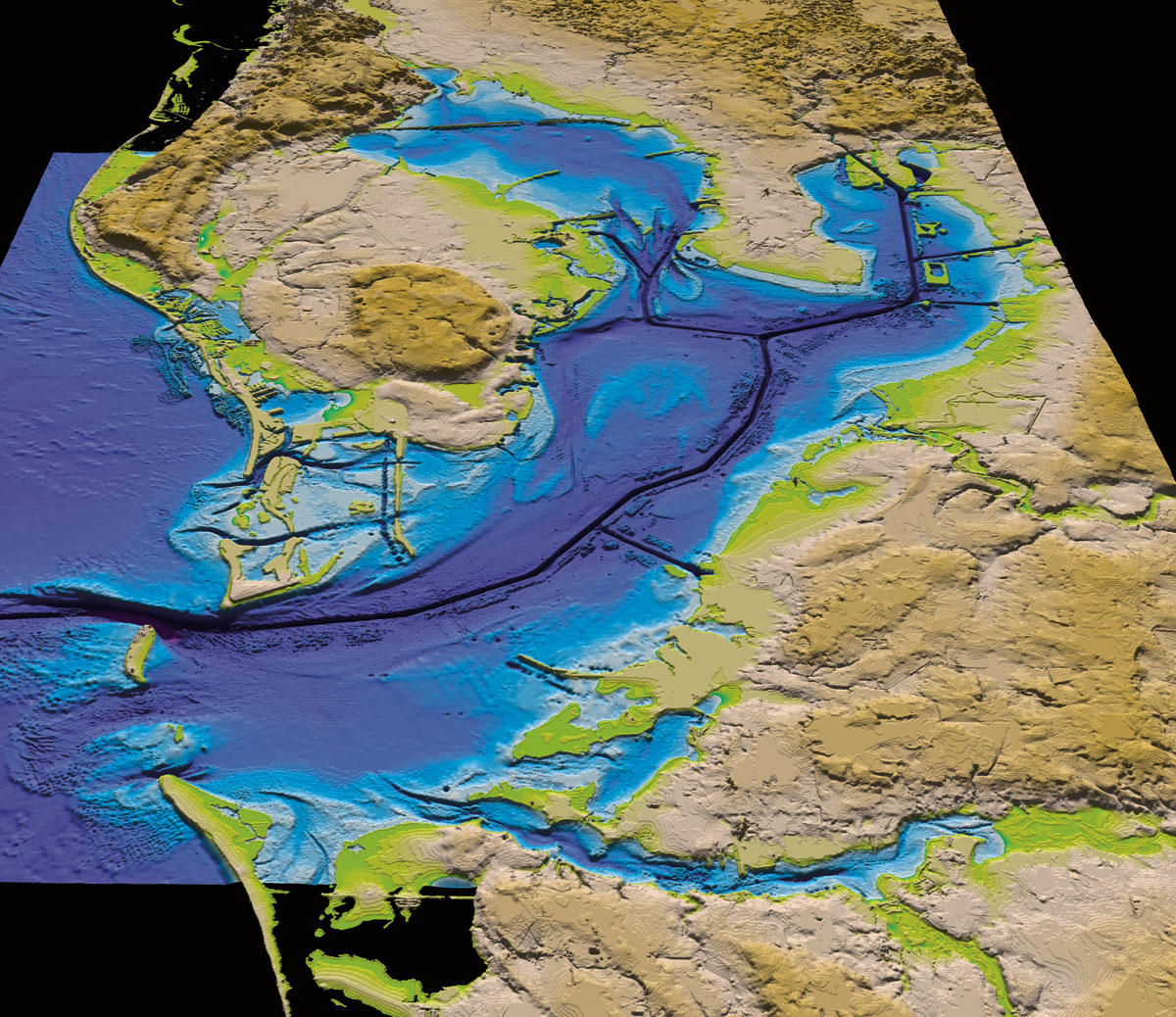 Tampa Topographic Map.Bay Soundings L Tampa Bay S Science And Nature News Journal