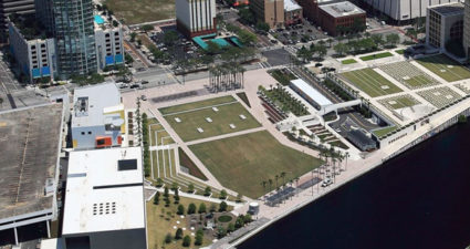 Tampa Riverwalk. The Tampa River Board Celebrates 30 years