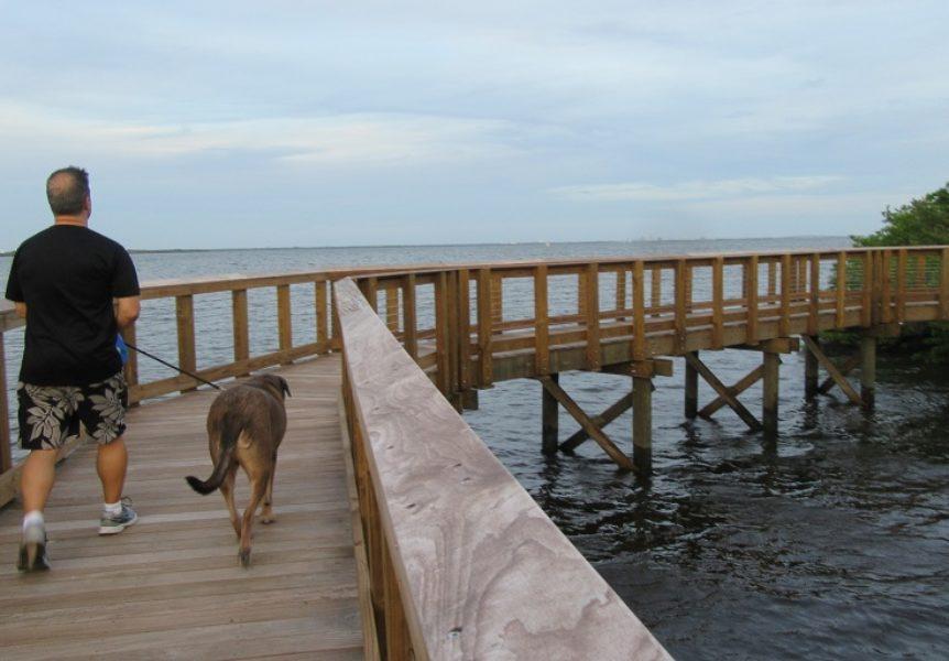 Overwater boardwalk